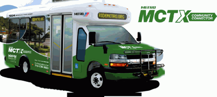 METRO's Curb2Curb app allows Missouri City riders to book rides on the Community Connector shuttle. (Courtesy Metropolitan Transit Authority of Harris County)