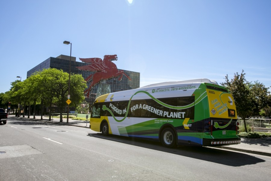 About 55% of DART's bus service currently focuses on high-ridership routes, while the rest is used to provide coverage, according to Mark Nelson, director of transportation for the city of Richardson. (Courtesy DART)