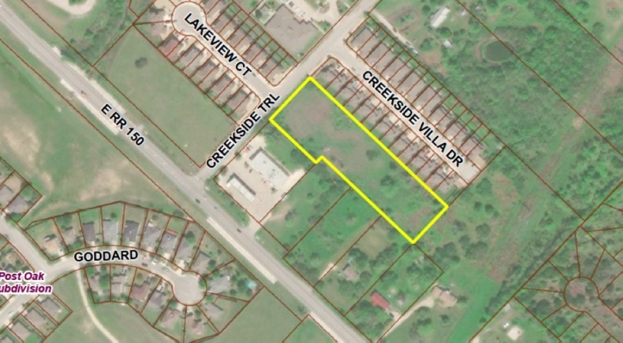 One of the plats of land that likely will be rezoned in Kyle is on more than 2 acres along Creekside Trail. (Courtesy City of Kyle)