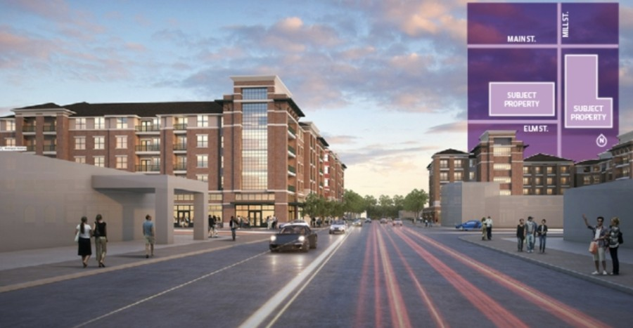 Construction on Main & Mill is expected to begin in January. (Rendering courtesy city of Lewisville, AMAC Holdings)