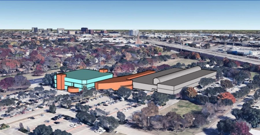 City Council was asked to review five conceptual renovation plans for the library and the City Hall/Civic Center building at an Oct. 19 meeting. Three of the six plans propose connecting the two facilities. (Rendering courtesy city of Richardson)