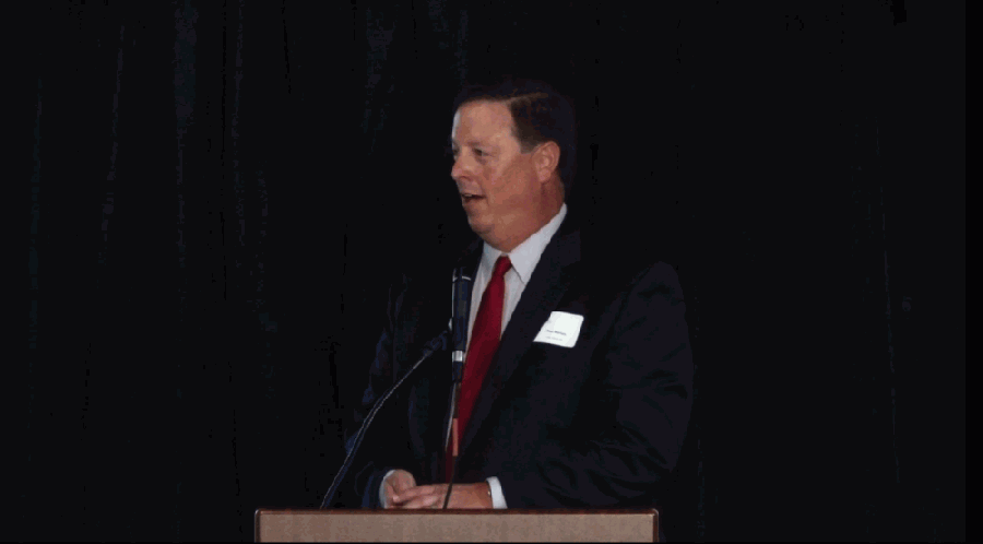 Lake Travis ISD Superintendent Paul Norton gave a presentation during the annual State of the District luncheon Oct. 21. (Courtesy Lake Travis Chamber of Commerce)