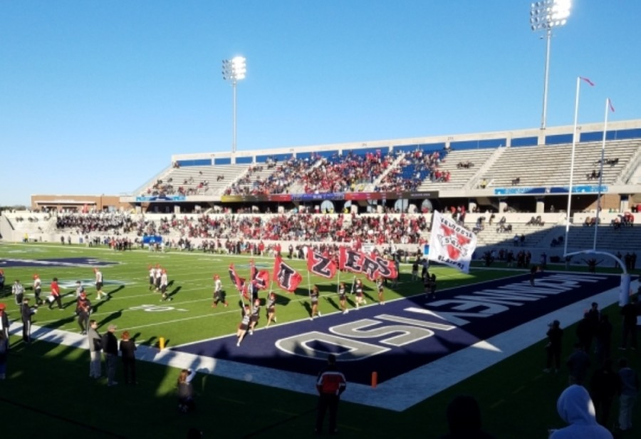 Teams from the University of West Florida and Minnesota State University played in the 2019 NCAA Division II National Football Championship. McKinney ISD Stadium will continue to host games through 2025. (Courtesy city of McKinney)