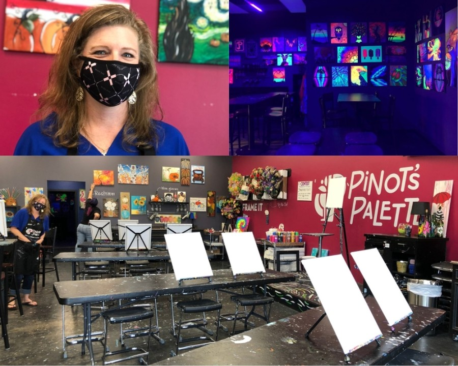 Meredith Lanning, owner of Pinot's Palette in Katy, has adapted her business to the COVID-19 pandemic. (Nola Z. Valente/Community Impact Newspaper)