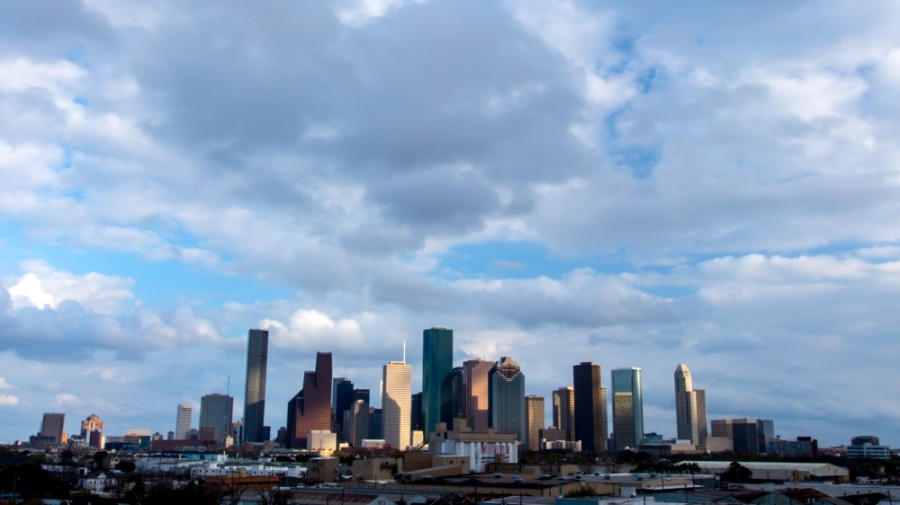 houston skyline from afar