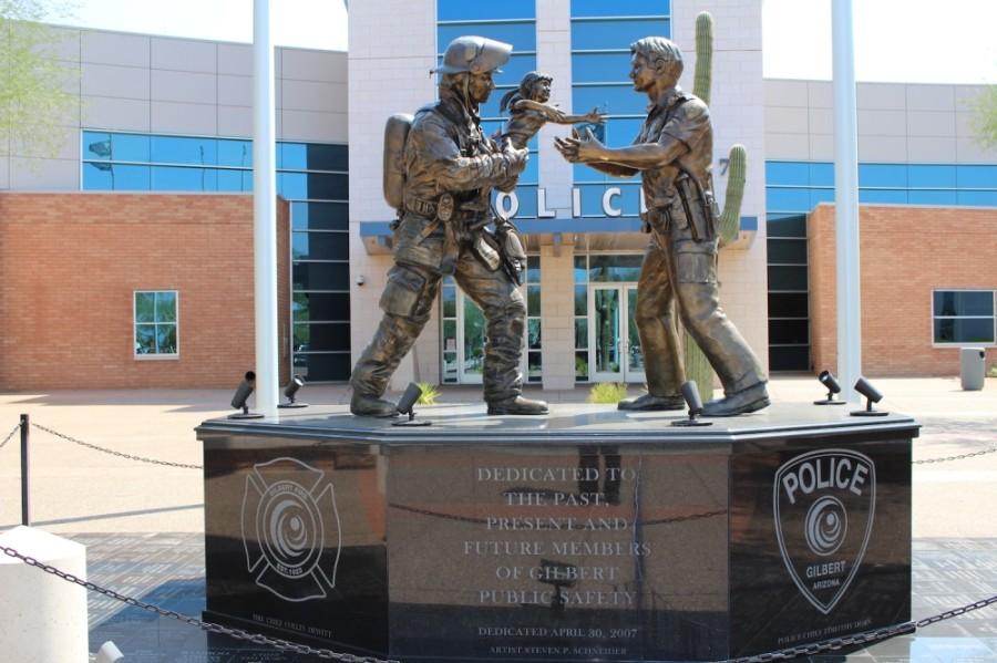 Gilbert Public Safety statue