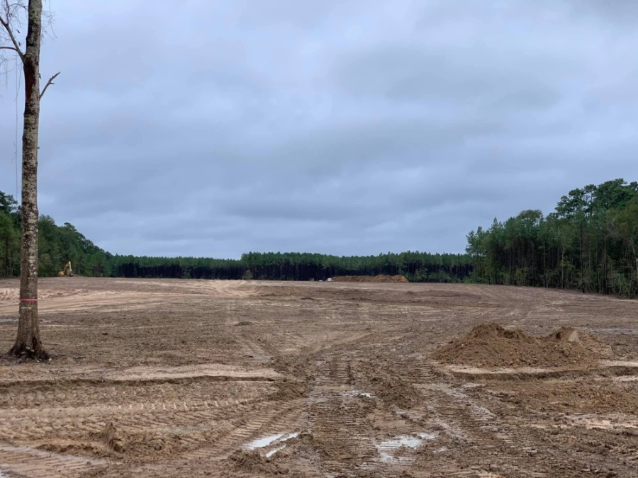 A photo uploaded to Facebook in late September shows trees have been cleared as developers plan for a spring 2021 opening date. (Courtesy GMI Management)