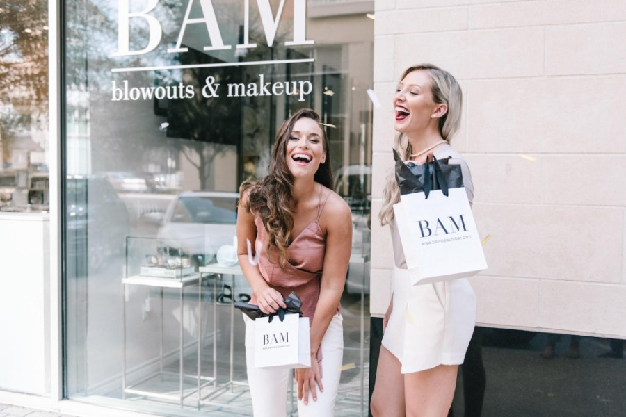 The luxury blowout and makeup bar uses high-quality products and tools as well as hypoallergenic, cruelty-free beauty products in a Parisian-inspired setting. (Courtesy BAM Beauty Bar)