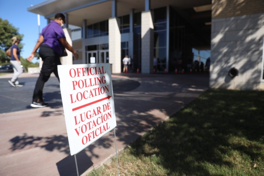 The Collin College campus in Frisco has been the city's most popular site for early voting so far. (Liesbeth Powers/Community Impact Newspaper)