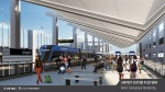 Capital Metro released new renderings Oct. 26 of its proposed Project Connect expansion, which voters will decide Nov. 3. This rendering shows a Blue Line light rail train at the Austin-Bergstrom International Airport. (Rendering courtesy Capital Metro)