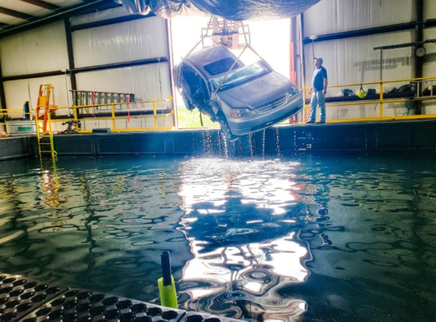 Owner Barton Bollfrass is helping establish similar swift water training tanks around the world. (Ali Linan/Community Impact Newspaper)