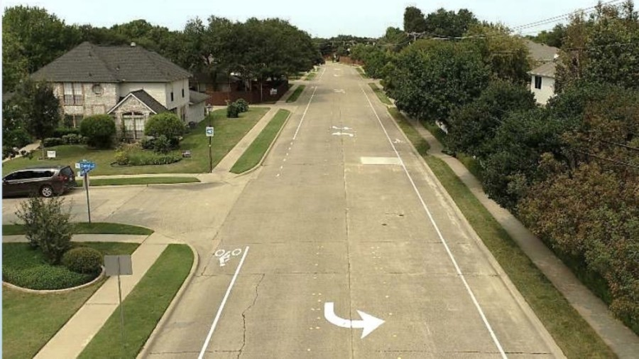 This section of Clear Springs Drive mirrors the proposed conditions for a stretch of Custer Road between Campbell and Arapaho roads, according to staff. (Courtesy city of Richardson)