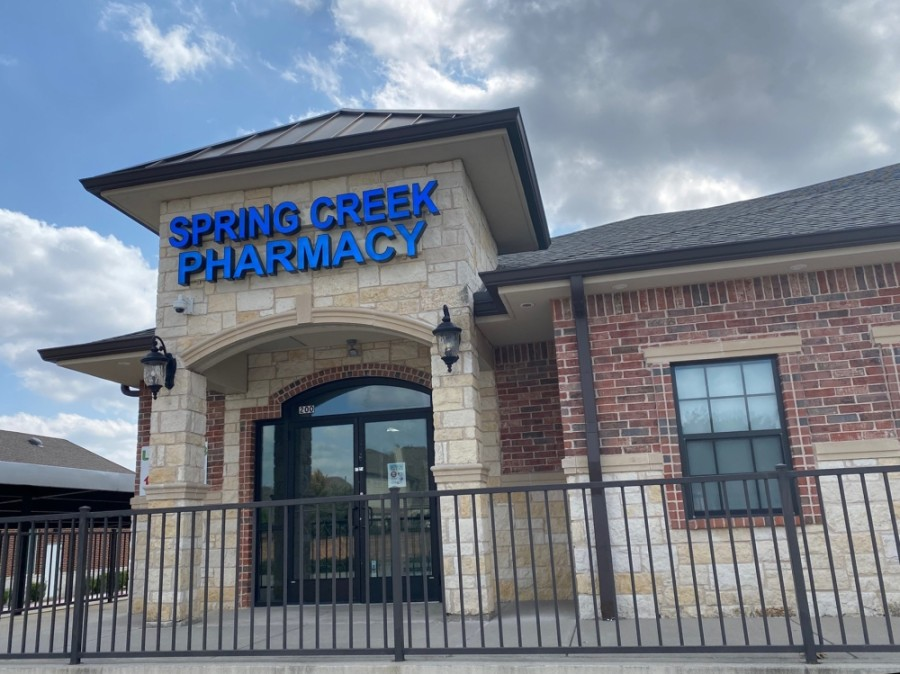 The pharmacy, which was previously located along Legacy Drive, offers a full-line pharmacy, including commercially available medications, nutritional supplements and compounding pharmacy services. (Courtesy Spring Creek Pharmacy)