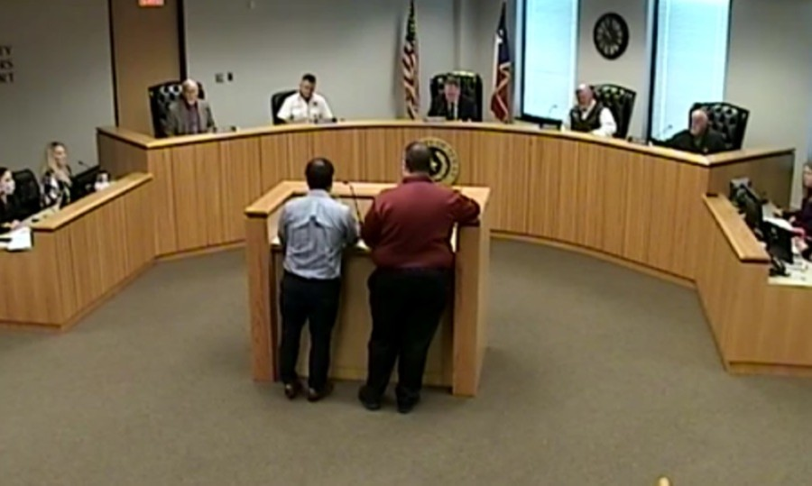 Montgomery County Commissioners Court met Oct. 27 for a regular meeting, which was broadcast live online. (Screenshot via Montgomery County)