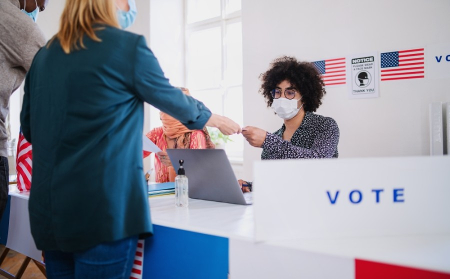 Face coverings are now required for those entering polling places in Texas during the general election. (Courtesy Adobe Stock)