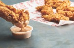 The Louisiana-based eatery is known for its chicken tenders, crinkle-cut fries, coleslaw, Texas toast and signature Cane's sauce. (Courtesy Raising Cane's)