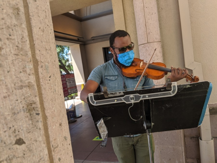 Local violinist Shawn LeSure
