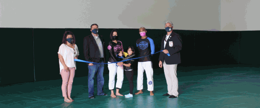 The New Braunfels Chamber of Commerce held a ribbon-cutting for Gracie Jiu-Jitsu New Braunfels on Oct. 28. (Courtesy New Braunfels Chamber of Commerce)