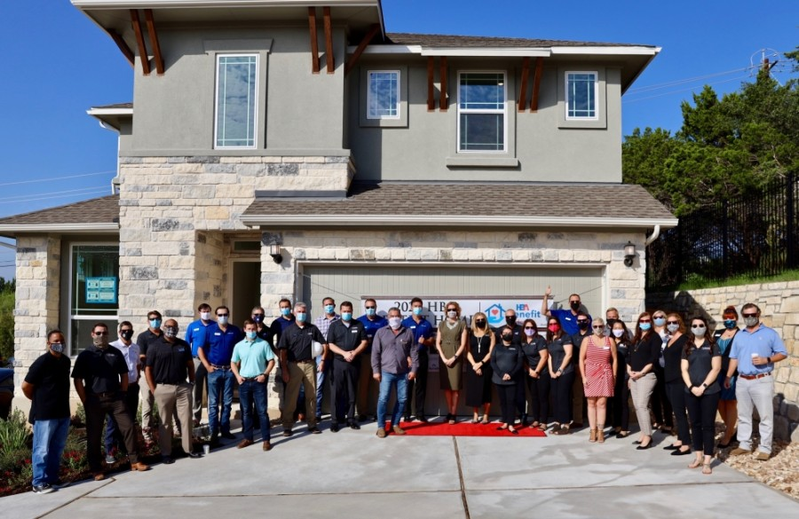 Home Builders Association of Greater Austin celebrated to completion of its 2020 Benefit Home on Oct. 7. (Courtesy Nicolle Ramia of Four Hearts Marketing and Events)
