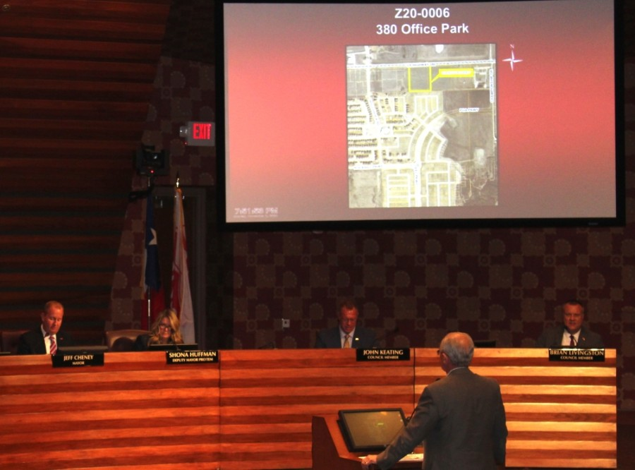 Frisco City Council voted to rezone 11.1 acres on the south side of US 380 and east of Hollyhock Road from agricultural to office. (William C. Wadsack/Community Impact Newspaper)