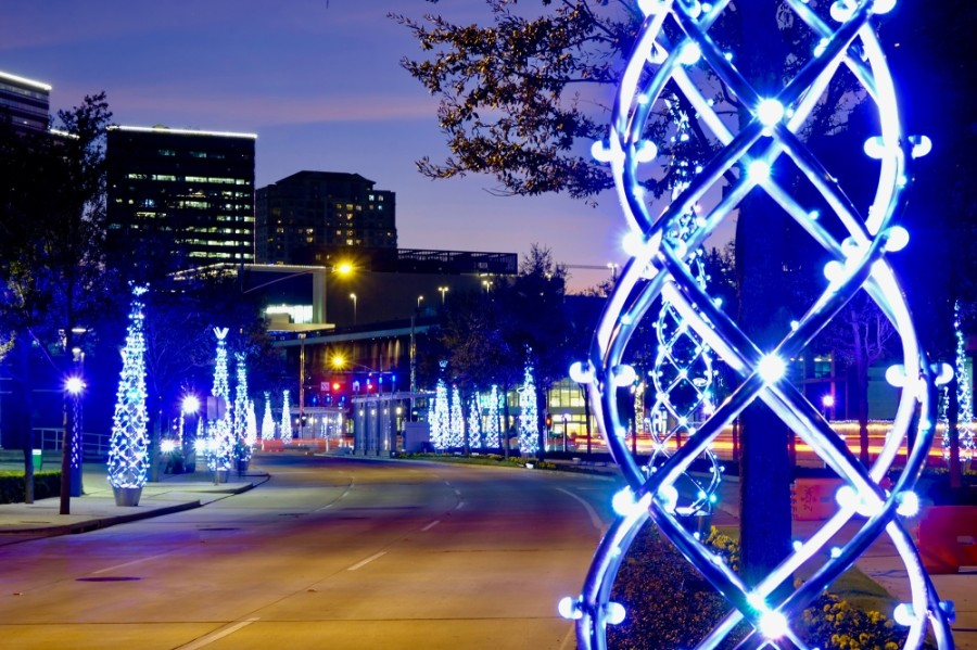 There will be no Uptown Holiday Lighting event in 2020, but Uptown Houston will still provide some holiday fun with a virtual holiday lighting countdown video. (Courtesy Uptown Houston)