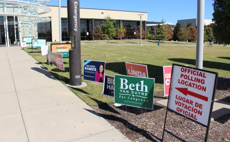 There was little wait for voters as of mid-morning on Election Day, Nov. 3, at this polling location at The University of Texas at Dallas. (Olivia Lueckemeyer/Community Impact Newspaper)