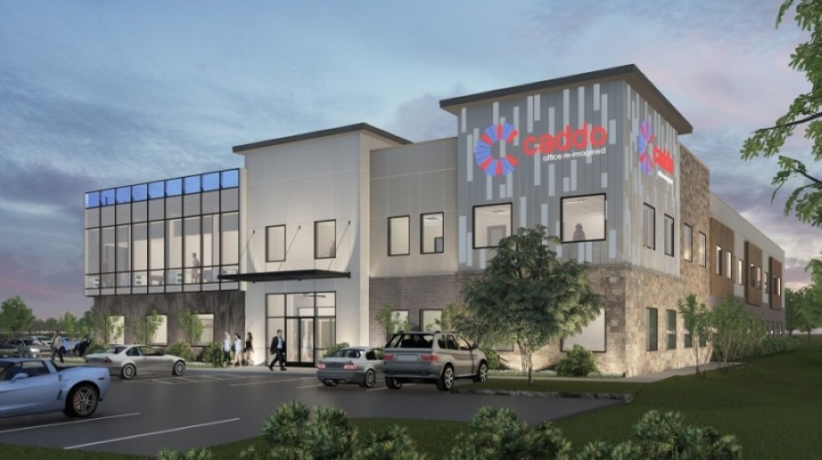 The coworking space Caddo Office Reimagined is scheduled to open in fall 2021. (Rendering courtesy Caddo Office Reimagined)