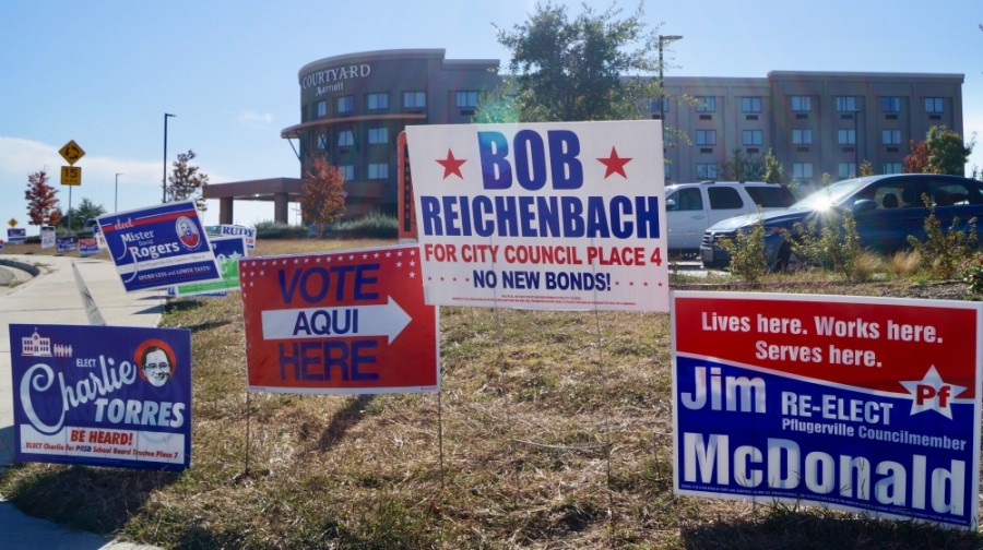 Approximately 21,000 votes were cast for Pflugerville City Council's three open seats during early voting. (Kelsey Thompson/Community Impact Newspaper)