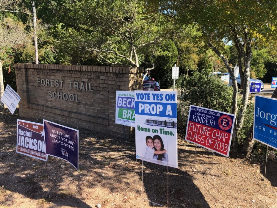 Eanes ISD's Forest Trail Elementary School served as an Election Day polling location. (Phyllis Campos/Community Impact Newspaper)