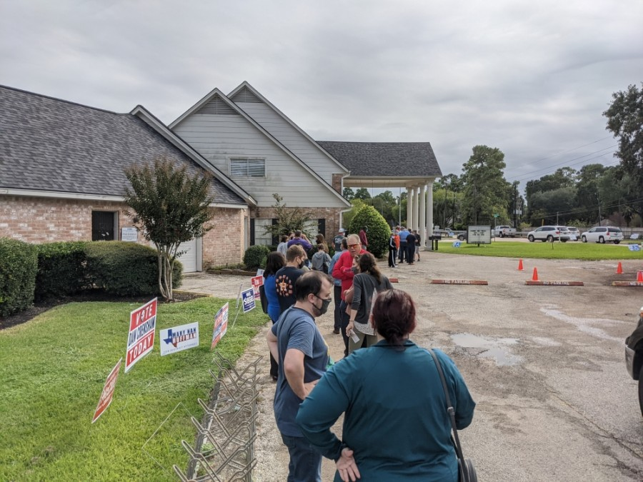 houston voter line november 2020