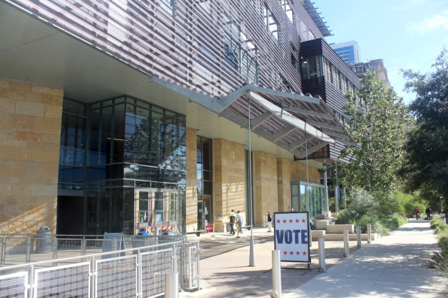 The Austin Central Library was one of 178 polling locations in Travis County open Nov. 3. (Jack Flagler/Community Impact Newspaper)