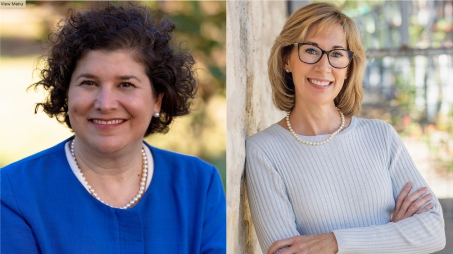 Incumbent Alison Alter (left) and conservative challenger Jennifer Virden are leading the field in the crowded Austin City Council District 10 race.