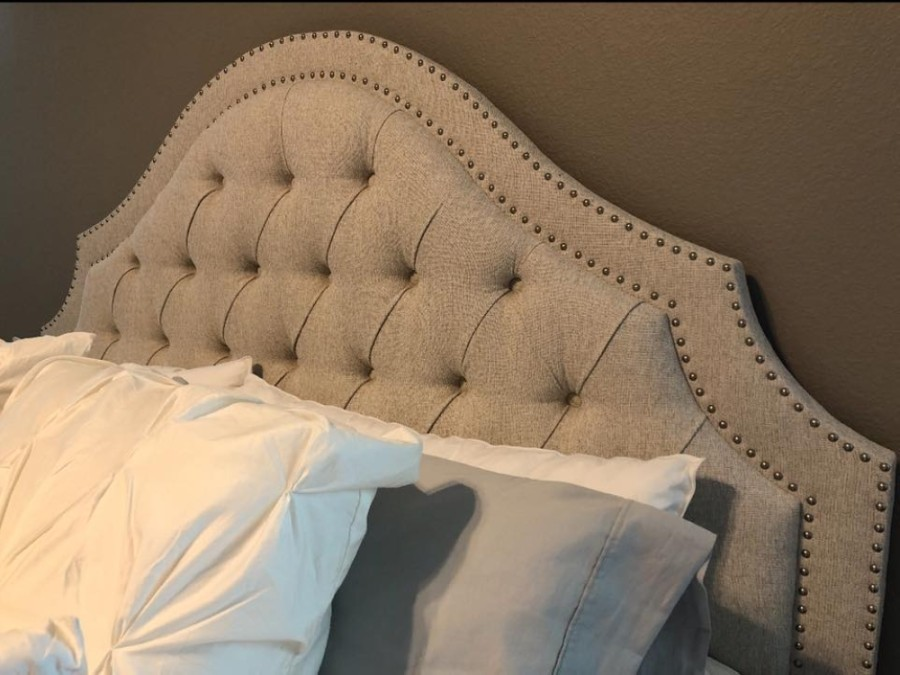 The business offers custom options ranging from the shape, style, buttons, fabric, length, depth and height of headboards and beds. (Courtesy Divine Headboards)