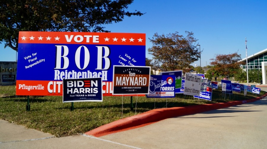 As of late Nov. 3, Pflugerville City Council candidates Ceasar Ruiz, Rudy Metayer and David Rogers have secured their places on the dais. (Kelsey Thompson/Community Impact Newspaper)