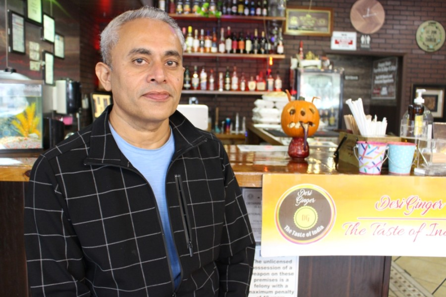 "Ashok ""Jerry"" Barot opened Desi Ginger in 2019 after starting a new life in Plano. (Olivia Lueckemeyer/Community Impact Newspaper)"
