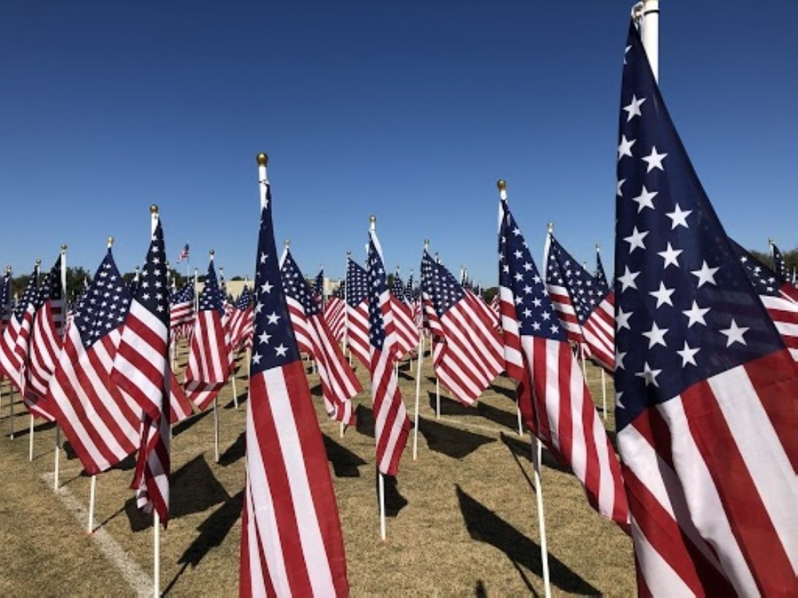 The fourth annual Field of Honor will take place in San Gabriel Park in Georgetown from Nov. 7-15. (Sally Grace Holtgrieve/Community Impact Newspaper)