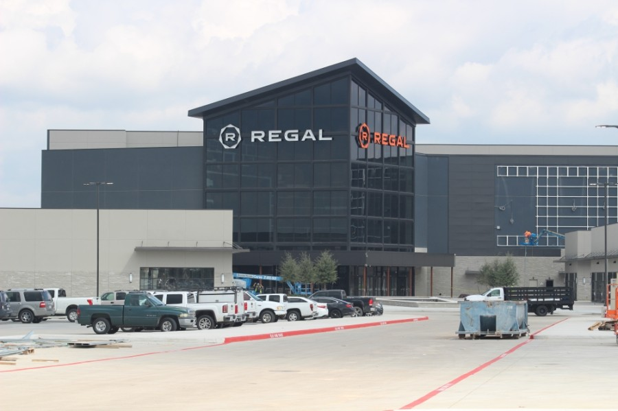 The Regal Benders Landing development is near completion. (Andrew Christman/Community Impact Newspaper)