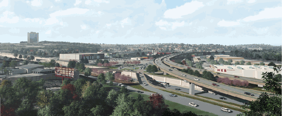 The Oak Hill Parkway project, which aims to relieve traffic near the intersections of Hwys. 290 and 71, is set to break ground in mid-2021. (Courtesy Texas Department of Transportation)