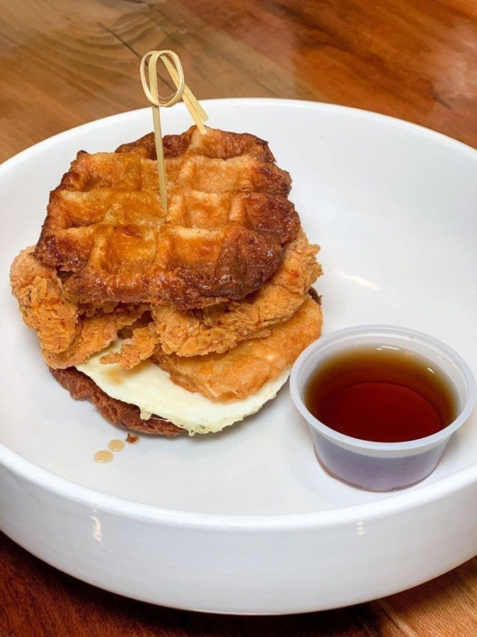 Tressie's Southern Kitchen offers a Sunday brunch menu from 10 a.m.-2 p.m., featuring dishes such as the waffle sandwich. (Courtesy Tressie's Southern Kitchen)