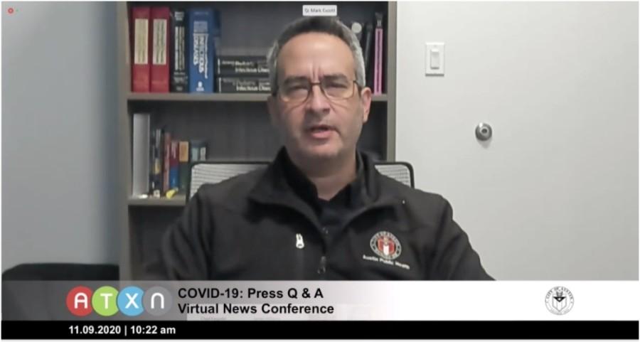 Screen shot of Mark Escott at a teleconference
