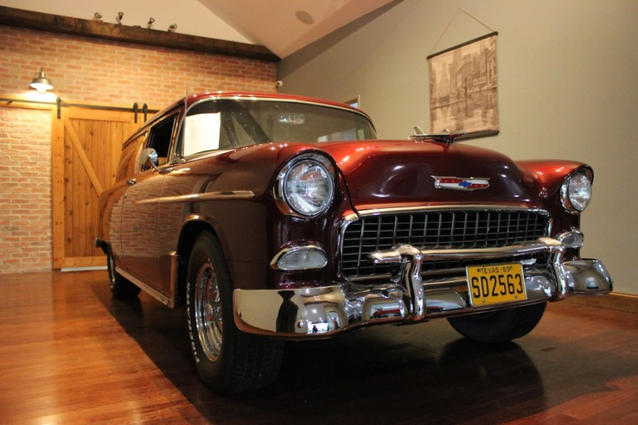 This 1955 Chevy Sedan Delivery occupied the main showroom at Garrett Classics in late October. (Daniel Houston/Community Impact Newspaper)