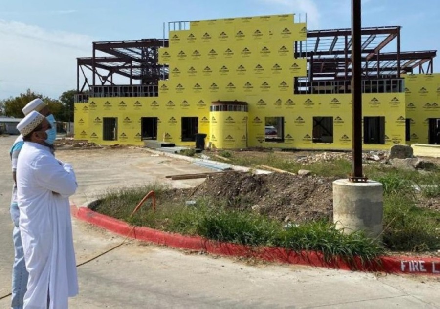 Construction on the Collin County Dawoodi Bohra Masjid is expected to be completed in May 2021. (Courtesy Dawoodi Bohra Community of Collin County)