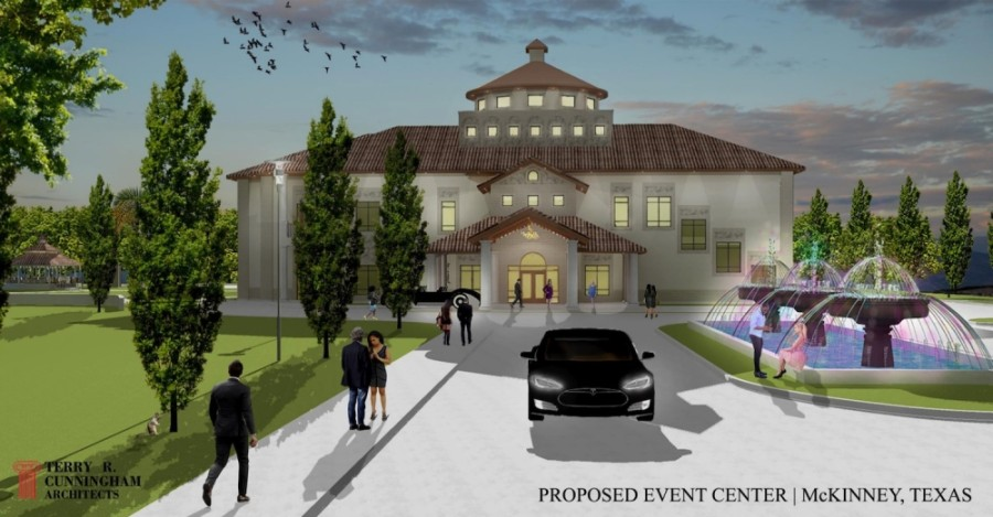 A proposed event center will go to McKinney City Council on Dec. 1 with a negative recommendation from Planning and Zoning Commissioners. (Rendering courtesy city of McKinney)
