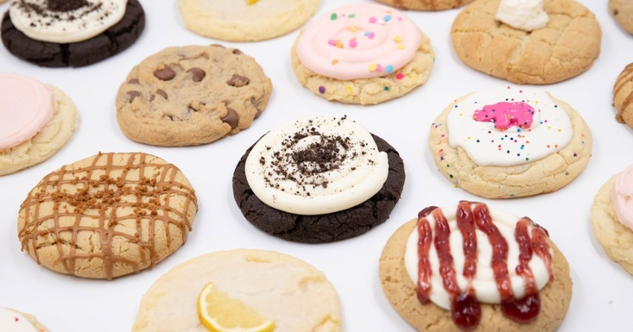 Crumbl Cookies offers a weekly rotating menu of fresh-baked cookies, such as Strawberry Poptart, Pumpkin Oreo and Buckeye Brownie. (Courtesy Crumbl Cookies)