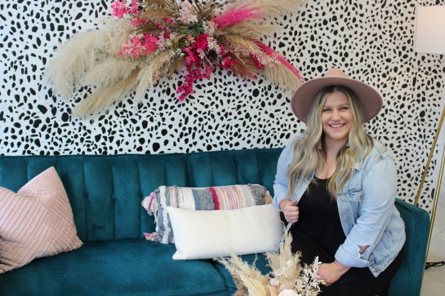 Laci Coker, founder of The Darling Co., a wedding cooperative located near Main Street, is one of the newest tenants in the Richardson Core District. (Olivia Lueckemeyer/Community Impact Newspaper)