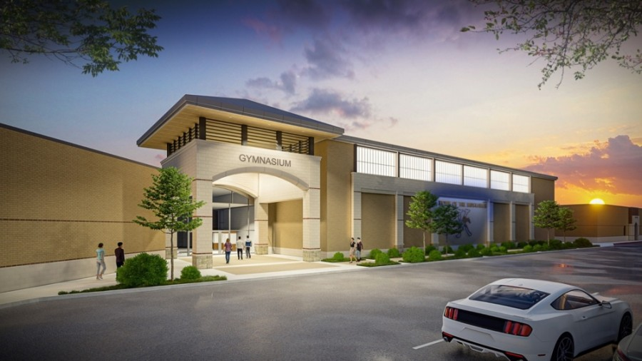 Kingwood High School will have a new entrance to its new gymnasium. (Courtesy Humble ISD)