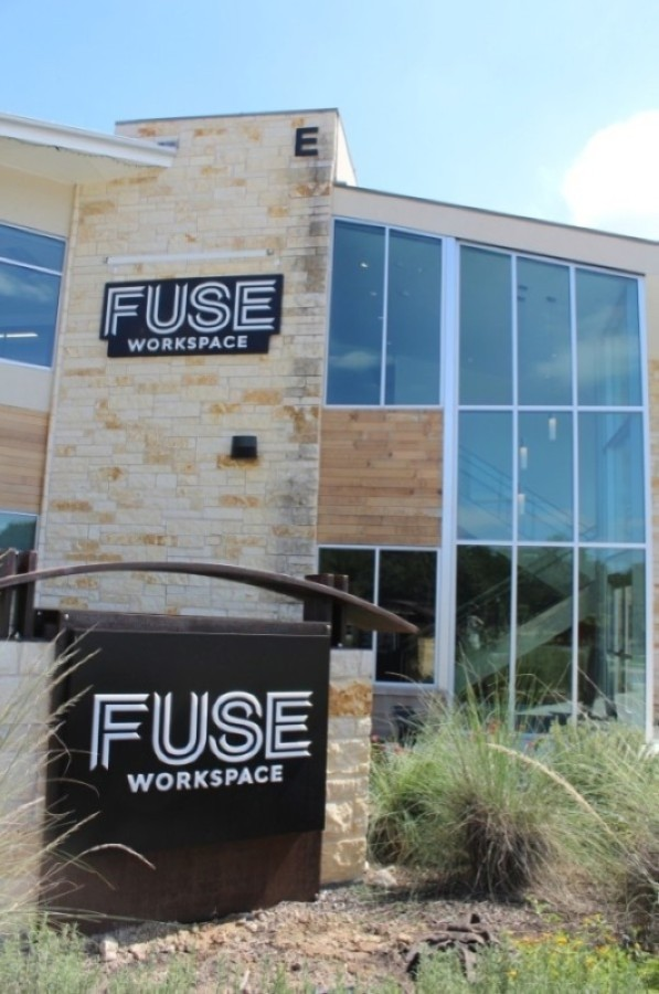 "FUSE Workspace offers a collaborative working environment in its ""coworking cafe,"" which includes a $28,000, all-you-can-drink gourmet coffee bot. (Courtesy FUSE Workspace)"