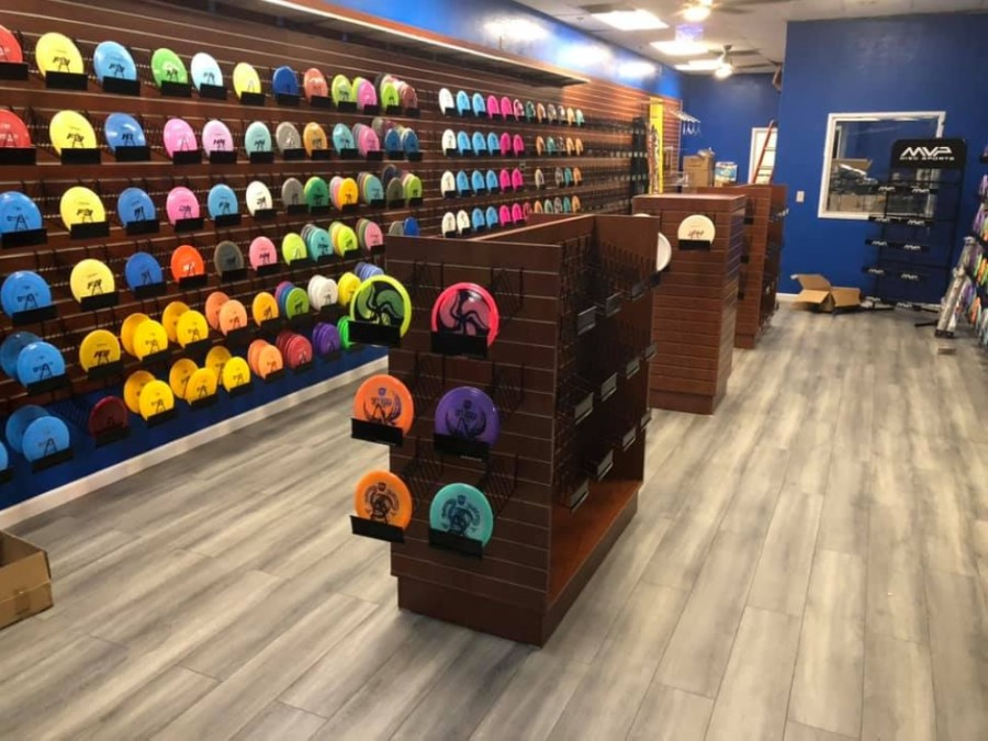 Straight Line Disc Golf will sell all necessary equipment to play disc golf at its new brick-and-mortar store in North Fort Worth. (Courtesy Straight Line Disc Golf)