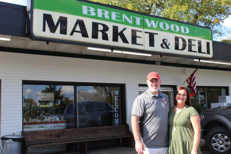 Owners and operators Jeremy and Hailey Hiett took over the Brentwood Market & Deli in 2019. (Wendy Sturges/Community Impact Newspaper)