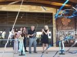 Kalahari Resorts & Conventions owner Todd Nelson (center) cuts the ribbon for the new Round Rock resort Nov. 12. (Ali Linan/Community Impact Newspaper)